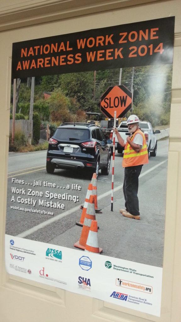 National Work Zone Safety Awareness Week 2014 Shannon Baum