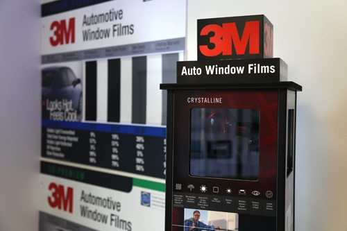 3m window tint display