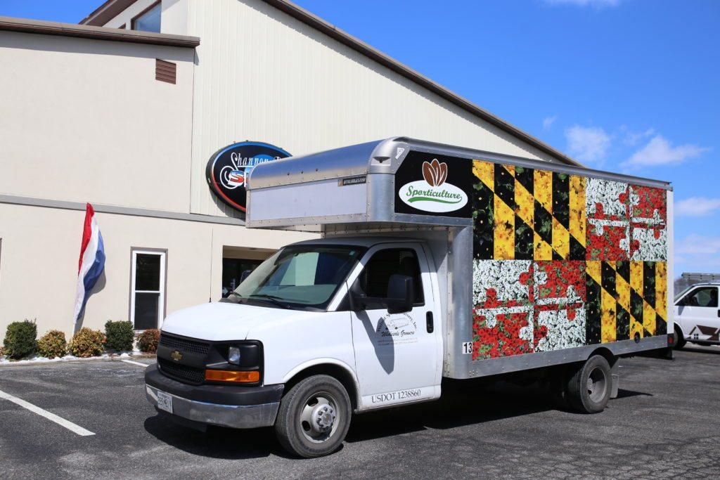 Box truck vinyl wrap