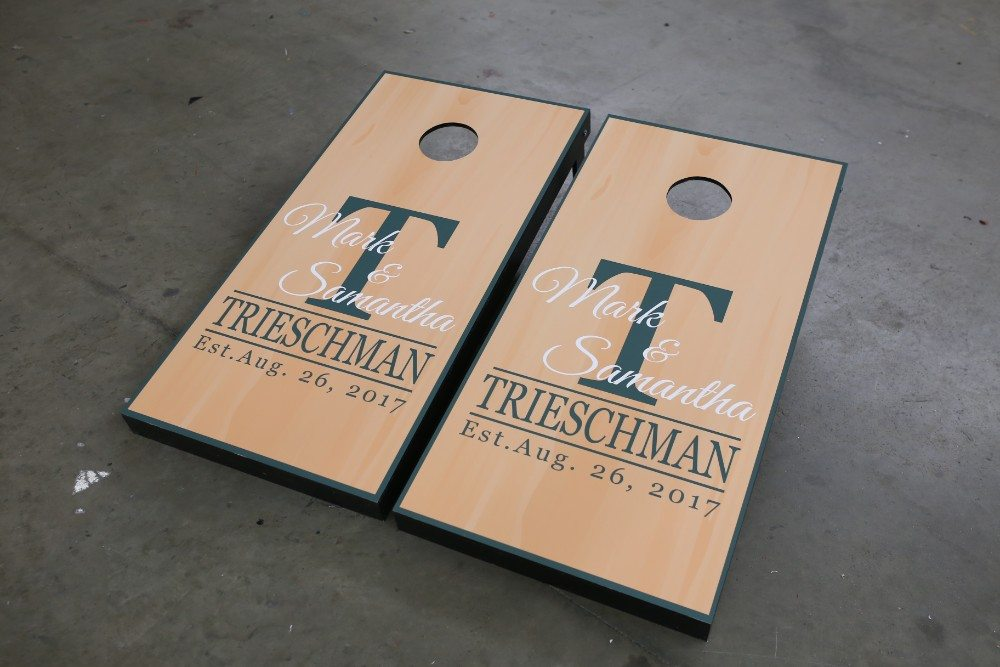 Custom Cornhole Boards | Maryland Sign Shop - Shannon Baum