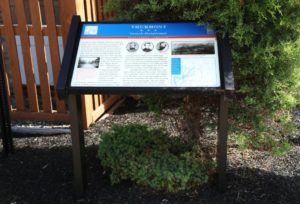 embedded fiberglass kiosk sign