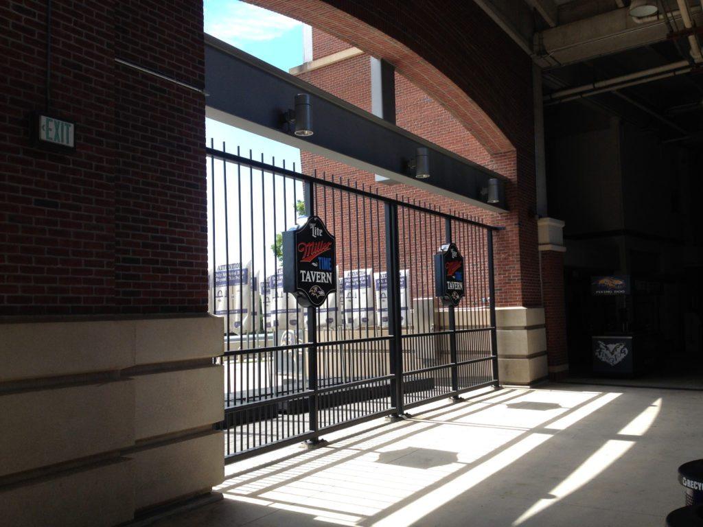Miller Lite Signs in the Raven's Stadium