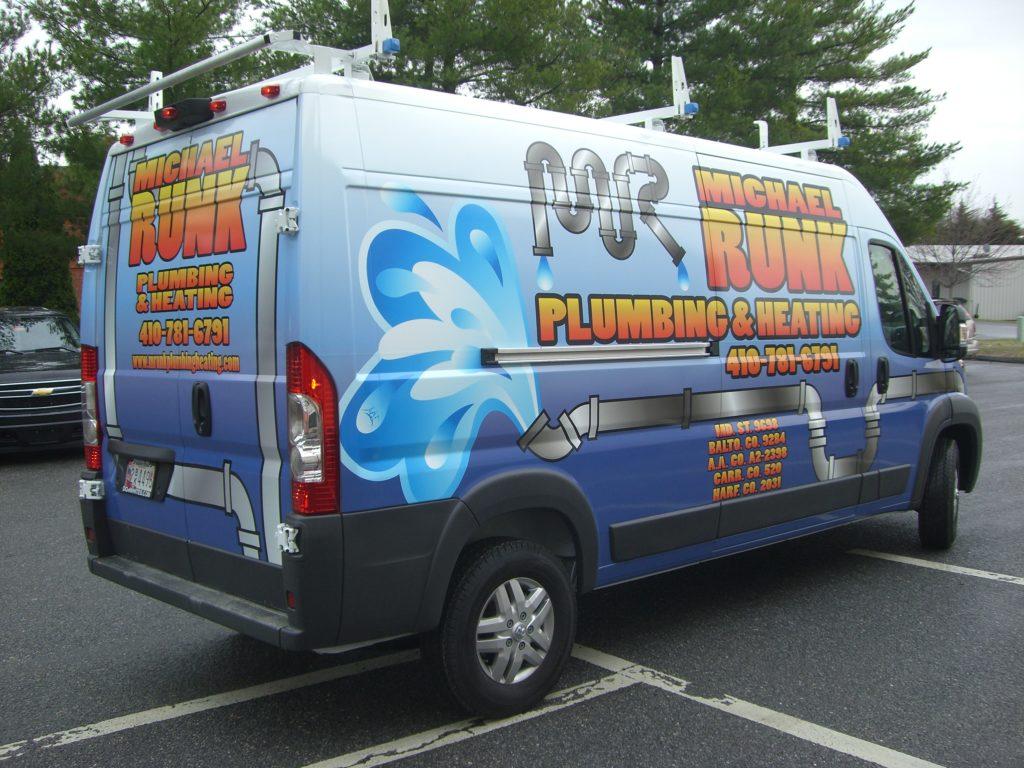 vehicle wrap on van