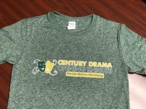 Screenprinted marled shirt
